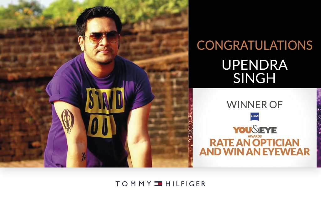 Upendra Singh Wins An Exciting Pair Of Sunglasses In 'Vote And Win' Campaign!