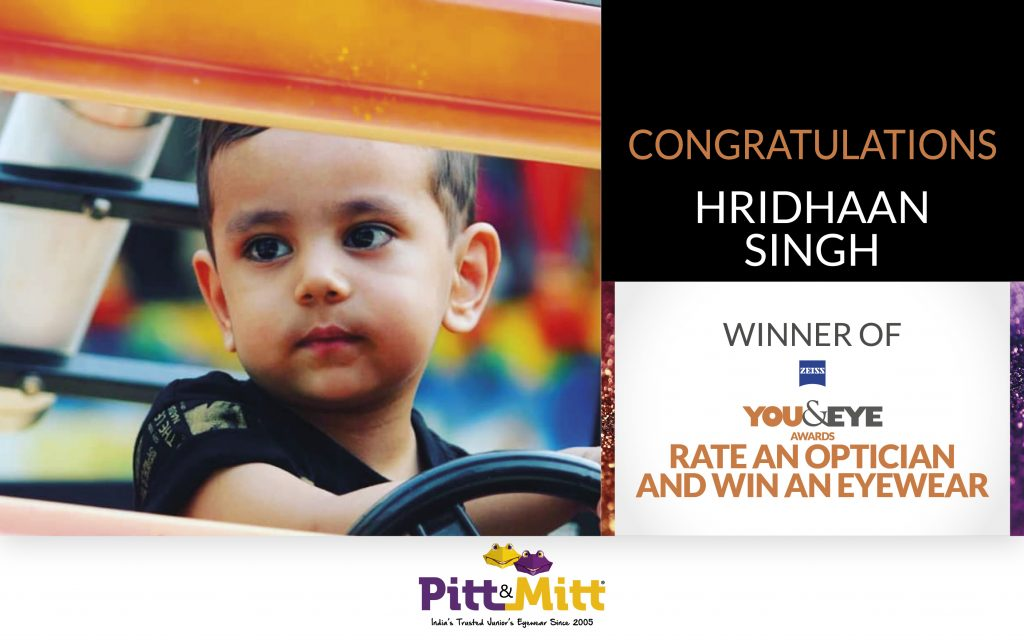 Hridhaan Singh From Dehradun Wins An Exciting Pair Of Sunglasses In 'Vote And Win' Campaign!