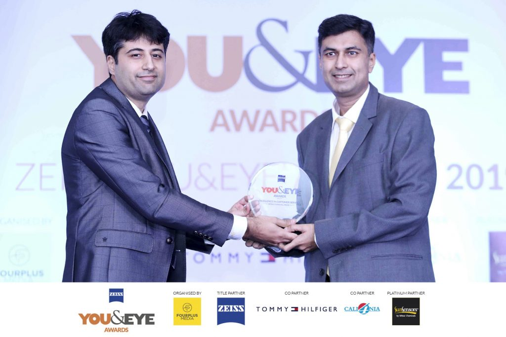 Winners for Excellence in Customer Service- Retail Chains (All India) : Gangar Eyenation